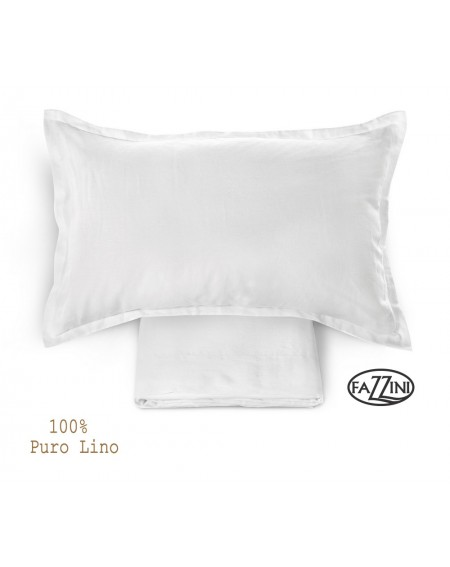 PARURE DE DRAP de lin blanc SOFFIO Fazzini