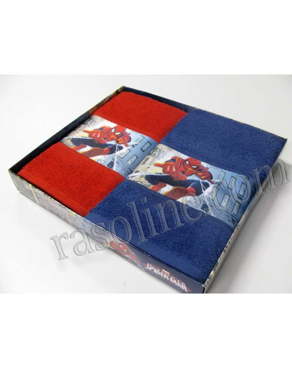 Coppia asciugamani spiderman caleffi confezione scatola for Asciugamani caleffi