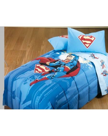 Set de draps - Parure de lit pour lit 1 personne Superman Energy