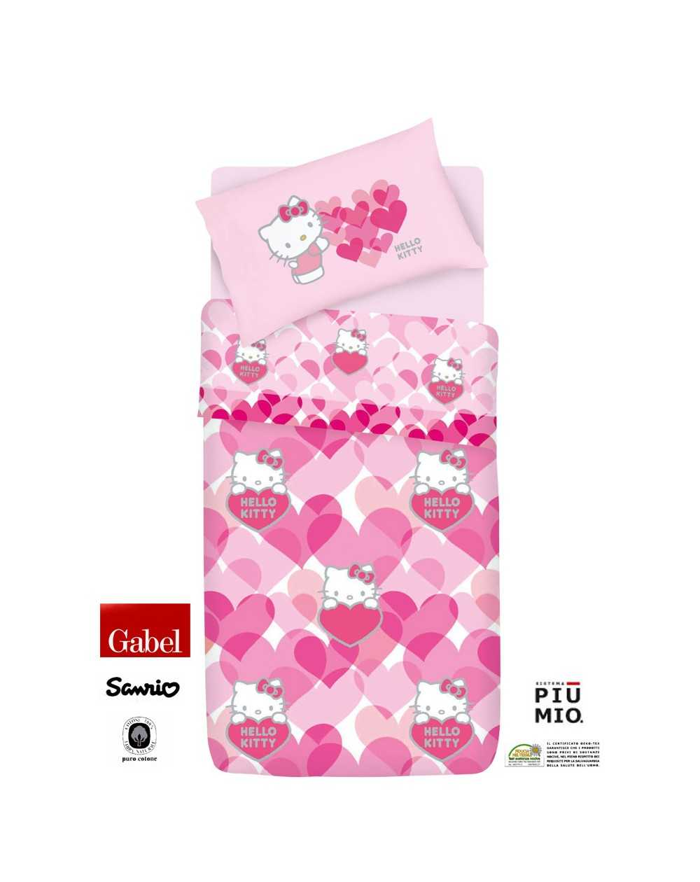 Hello Kitty Sweet Hearts set Lenzuola - Rasoline L.F.D. Home