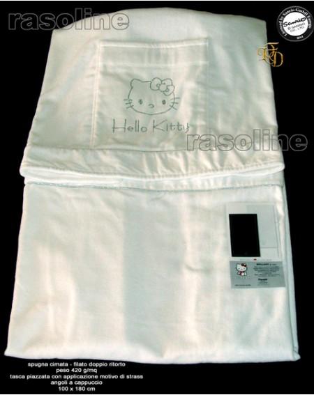 Bianco Telo Mare Grande Hello Kitty Brilliant Originale Sanrio