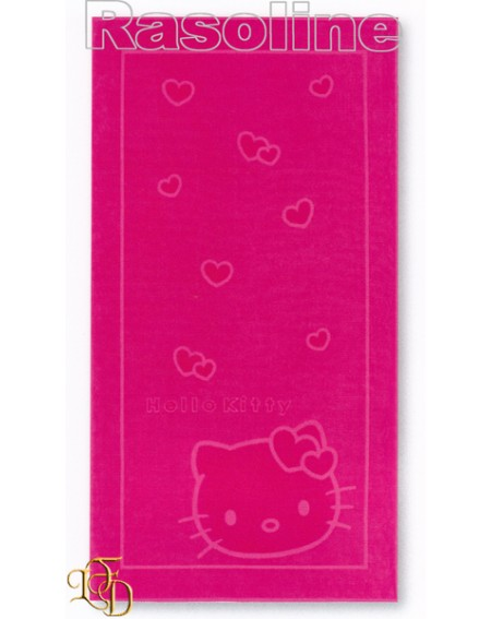 "Drap de plage ""Hello kitty"" 100 x 180 cm"