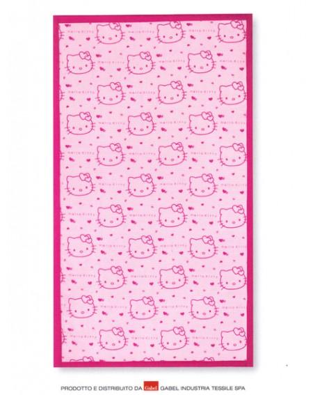 Telo Mare Piscina 100 X1 80Cm Hello Kitty Gabel 420 G/Mq