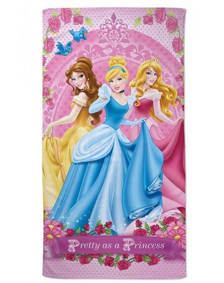 Telo Grande Mare Piscina Bagno Principesse Aurora Cenerentola Belle Rosa Disney