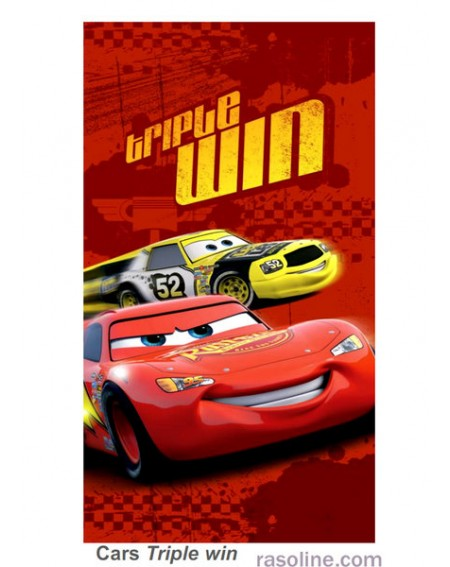 BEACH TOWEL TRIPLE WIN DISNEY CARS