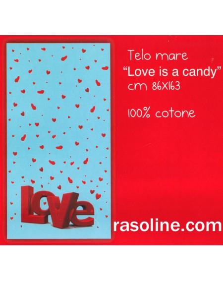Telo Mare Piscina Bagno 86X163Cm Love Is A Candy - Bassetti