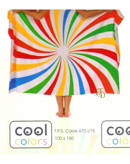 Telo Mare Piscina Bagno 100X160Cm Manterol Cool Colors Spirale