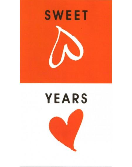 Badetuch Becken Sweet Years Caleffi 100 X 180 Cm Weiß - rot