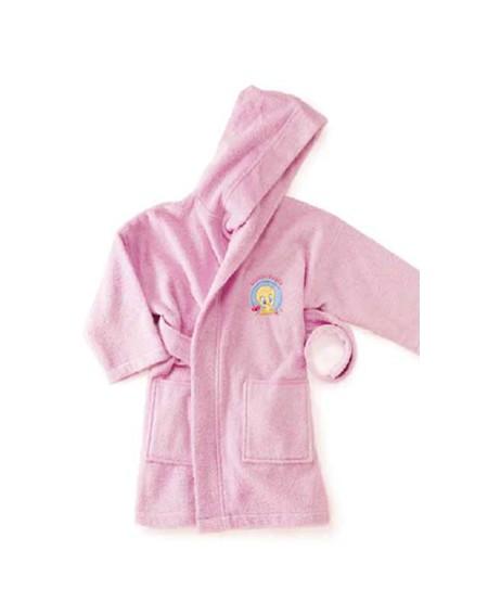 Accappatoio So Tweety rosa tg 0/2 neonato anni titti Bassetti