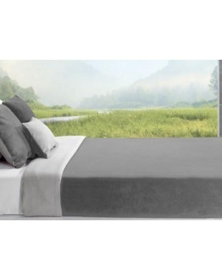 2 coloured fleece blanket grey