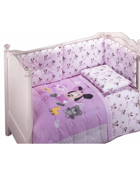 DUVET BABY TRAPUNTA E PARACOLPI PER LETTINO MINNIE BABY DISNEY BY CALEFFI DISPONIBILE IN TRE COLORI