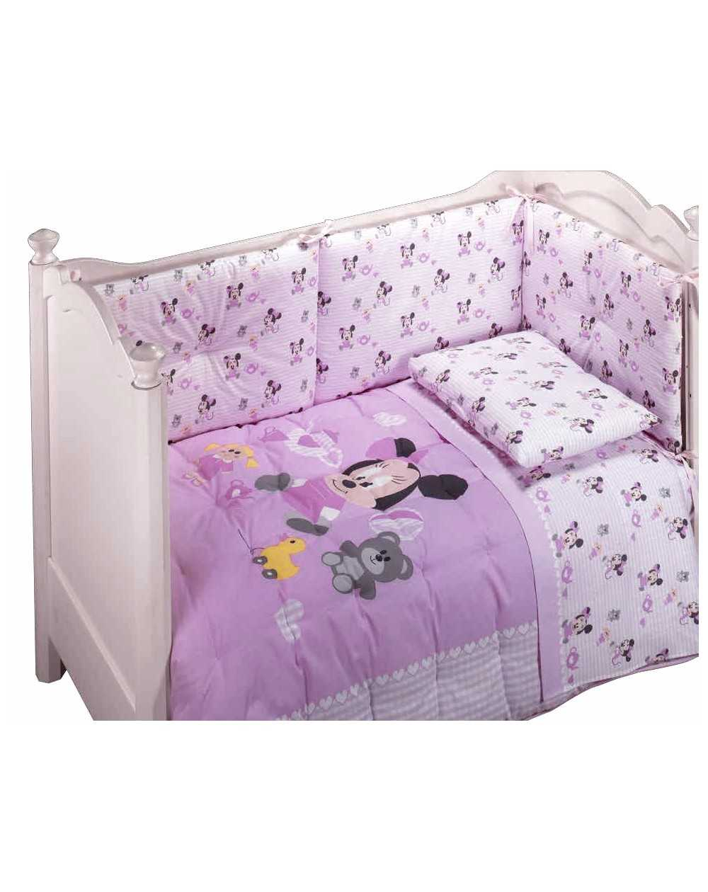 tour de lit trapunta e paracolpi per lettino minnie baby disney by caleffi disponibile in tre colori. Black Bedroom Furniture Sets. Home Design Ideas