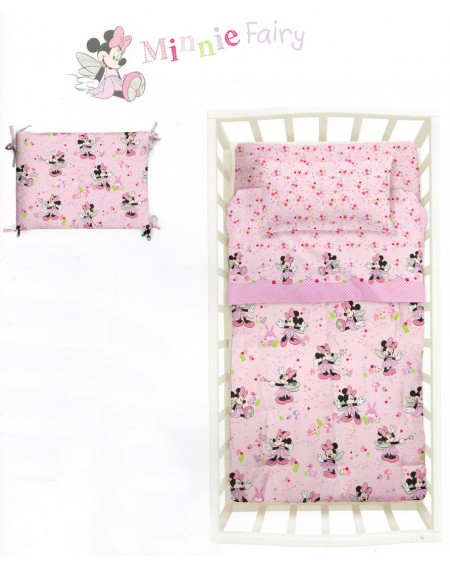 Trapunta E Paracolpi Per Lettino Minnie Fairy Baby Disney By Caleffi