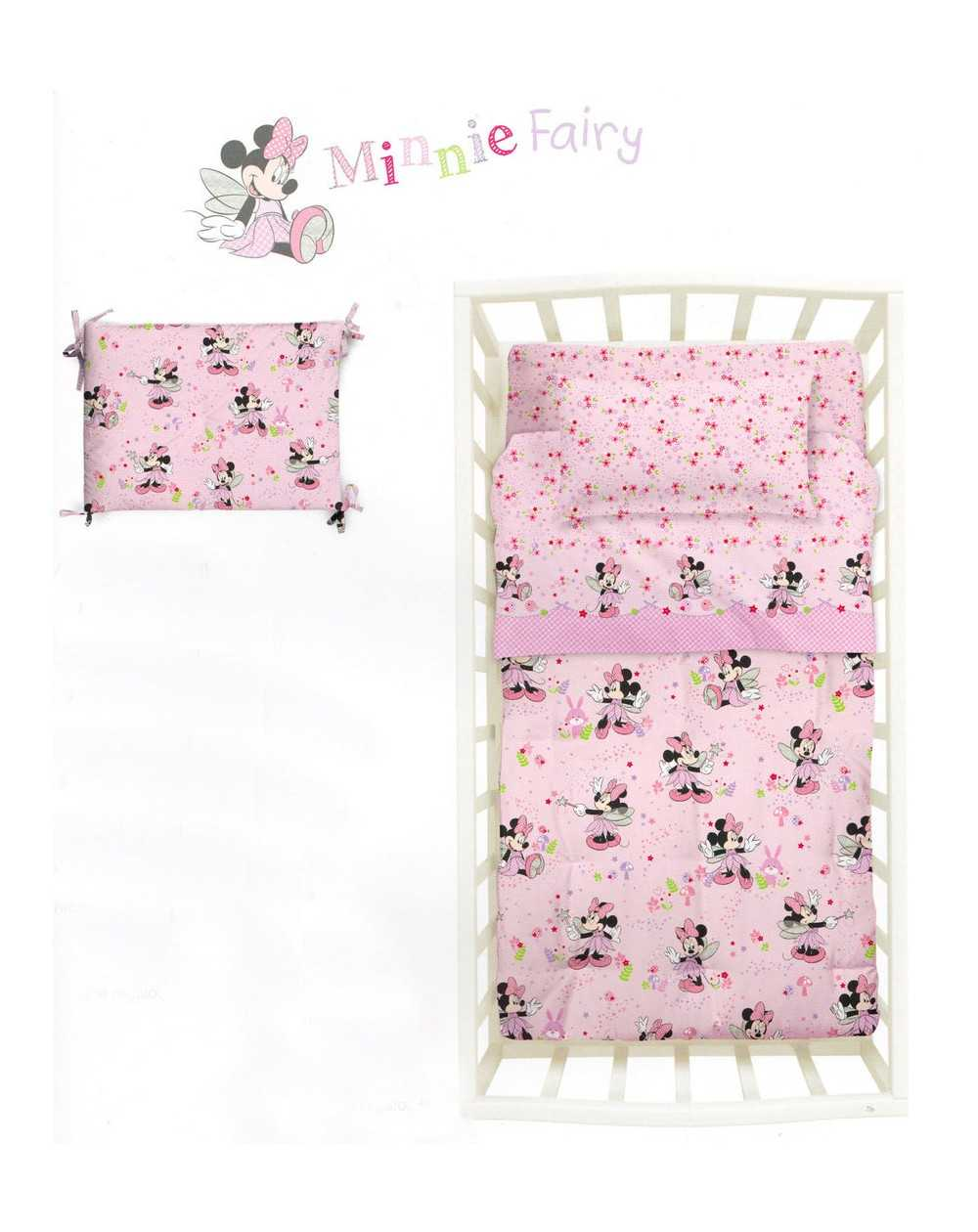 tour de lit edredon minnie fairy baby disney. Black Bedroom Furniture Sets. Home Design Ideas