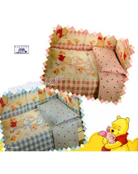 Trapunta Lettino Winnie The Pooh.Set Trapunta E Paracolpi Per Lettino Winnie The Pooh Discovery Rosa Caleffi