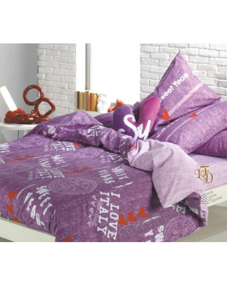 "Duvet Set single bed Sweet Years ""For You"""