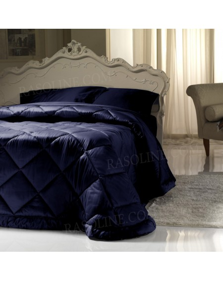 Comforter Elegance cotton satin blue
