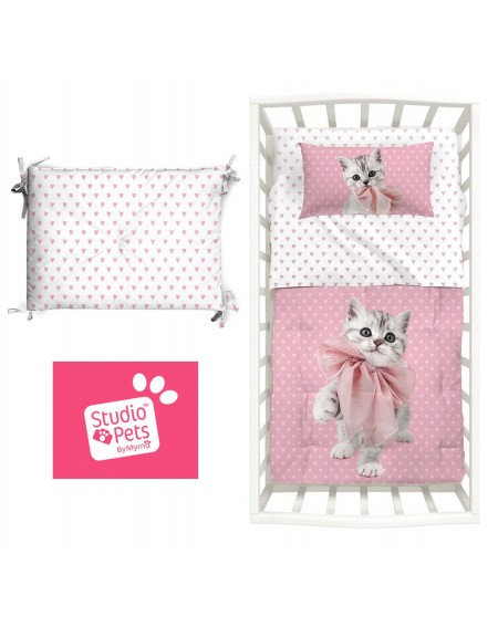 Comforter and bumper Baby Bedding Set Pets By Mirna