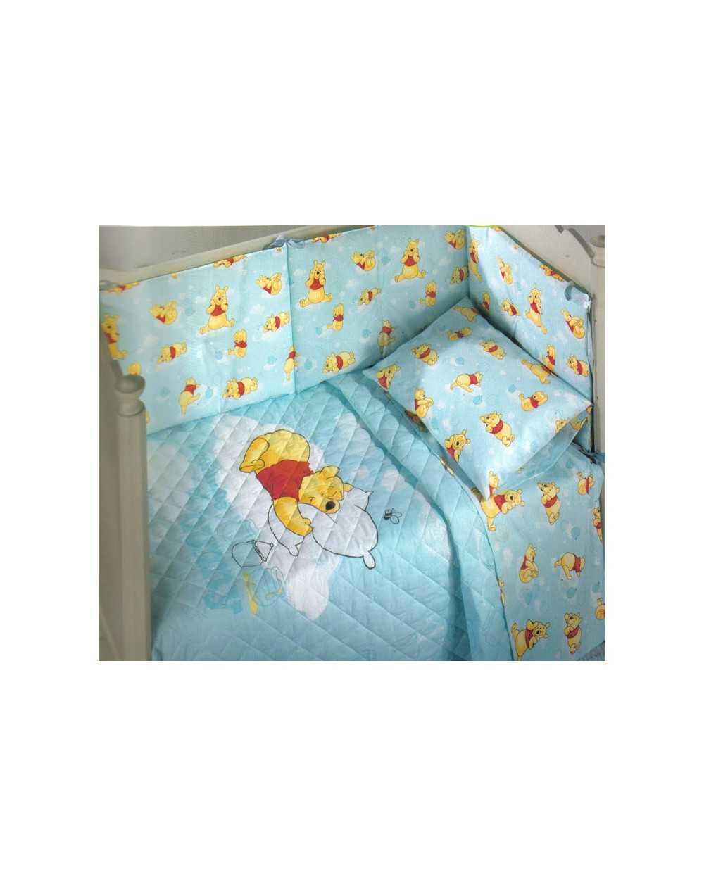 Copriletto Winnie The Pooh Caleffi.Copriletto Trapuntino Paracolpi Winnie The Pooh Buonanotte Acqua Caleffi Disney