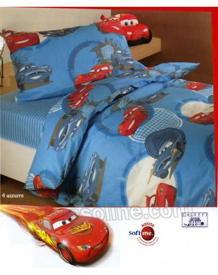 Trapunta Saetta Cars Go Azzurro Caleffi Disney Una Piazza