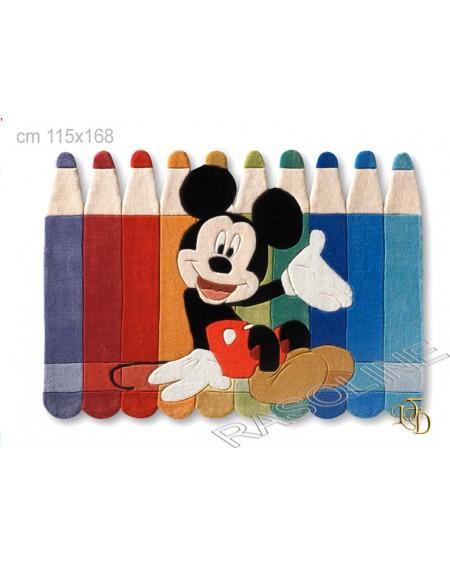 """Tappeto Topolino """"Matite"""" Cameretta 115X168 Cm Disney Top Line"""