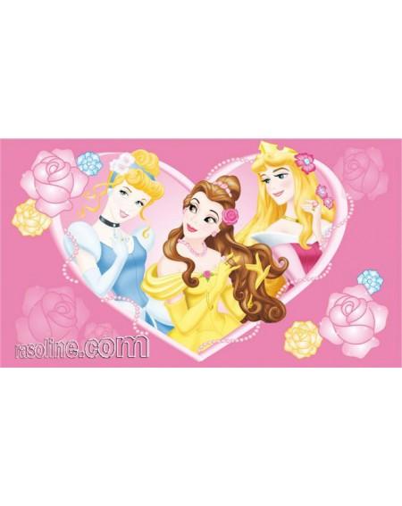 Tappeto Principesse Aurora Cenerentola Belle 140x80 cm DISNEY