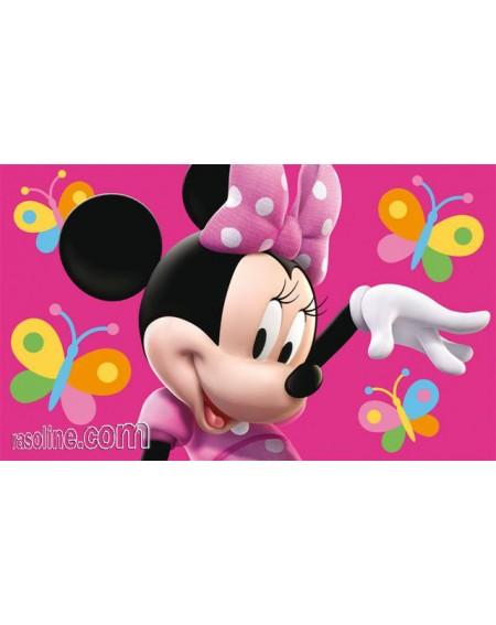 Tappeto - Scendiletto MINNIE fuxia 50 x 80 cm Disney