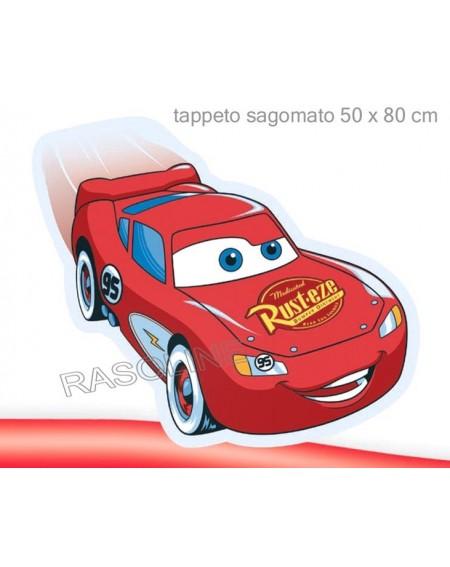 Tappeto Scendiletto Saetta Cars Sagomato 50X80Cm Disney