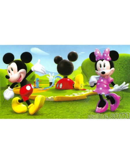 Tappeto Topolino Club House Minnie 100X170Cm Originale Disney Action Line