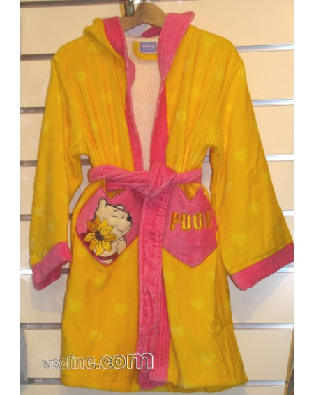 Bathrobe  WINNIE THE POOH * LOVE * cotton 100 % Caleffi Disney