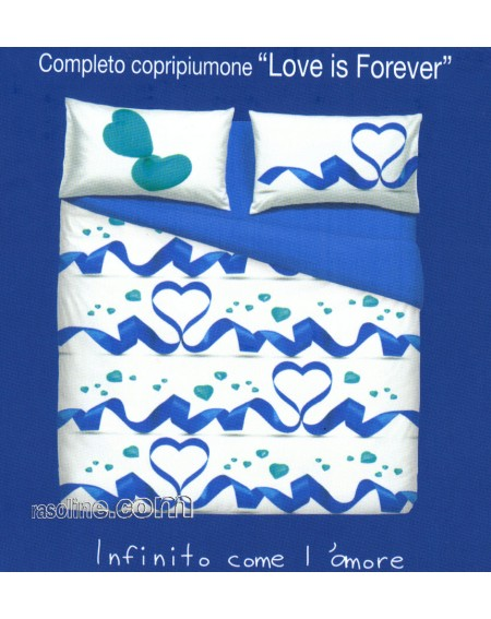 SUPER KING SIZE DUVET COVER A FITTED SHEET AND TWO PILLOWCASES LOVE IS FOREVER BY BASSETTI PINK
