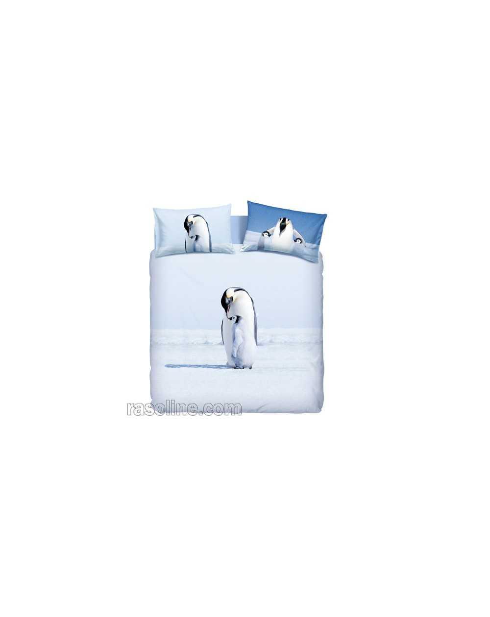 classico carino economico foto ufficiali Copripiumino Matrimoniale Artic Pinguini Bassetti La Natura