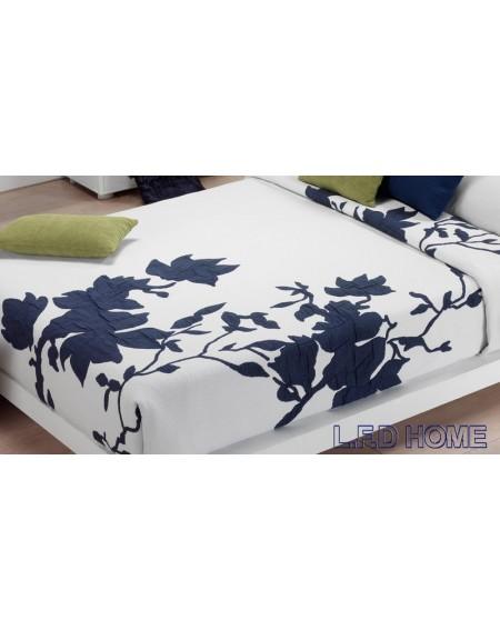 Bettüberwürfe gesteppte doppelbett Double Face Sandalo blau