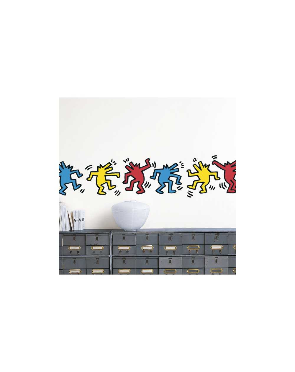 wall sticker homestickers 174 collector 51 x 71 cm dancing blik radiant baby wall stickers by keith haring wall sticker shop