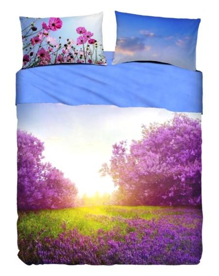 Garnitur Bettlaken Purple Summer Bett 125 cm Icon Bassetti