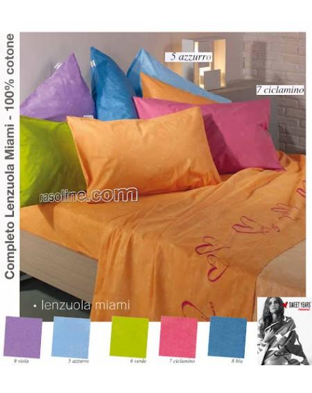 Parure de lit pour lit 1 personne Set Draps Sweet Years Miami Caleffi