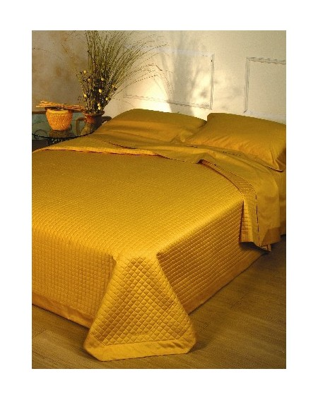 Enrico Coveri gold satin Bedspread