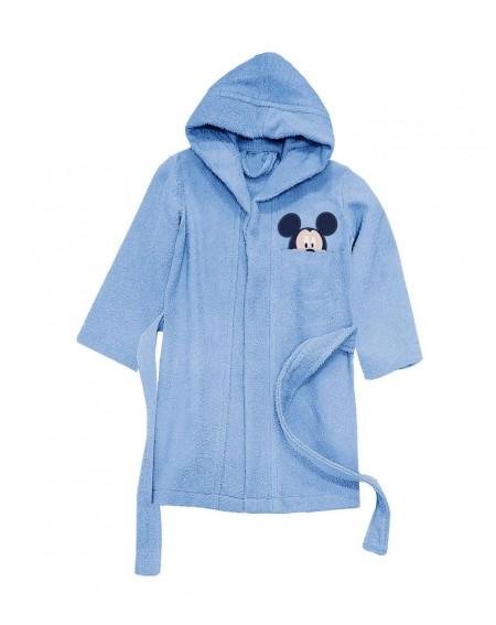 Accappatoio Con Cappuccio Blu Topolino baby Mickey Forever