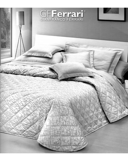 Beadspread bed-cover in jacquard Grey Emma