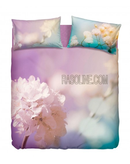 "Duvet Set - a fitted sheet, duvet cover and two pillow cases ""Lady Flower"""