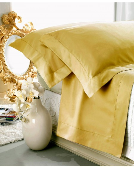 Garnitur Spannbettlaken Bettlaken satin GOLD