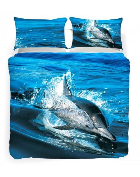 Ocean Blu Parure Copripiumino