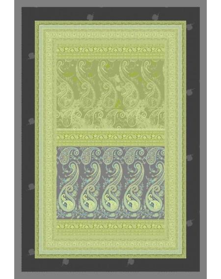 PLAID Vasari IMBOTTITO COPERTA DA SOGGIORNO / DIVANO linea GRANFOULARD colore verde