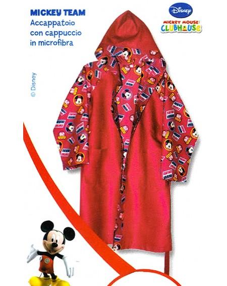 Accappatoio In Microfibra Topolino TEAM Mickey Caleffi Disney