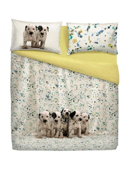 Housse de couette  Duvet Set - a fitted sheet,FUNNY DOGS