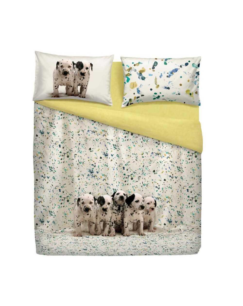 Bettbezug bettw sche set copripiumino per letto matrimoniale funny dogs bassetti - Set letto matrimoniale ...