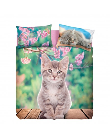 Duvet cover ,Fitted sheet with elasticated corner LUCKY CAT