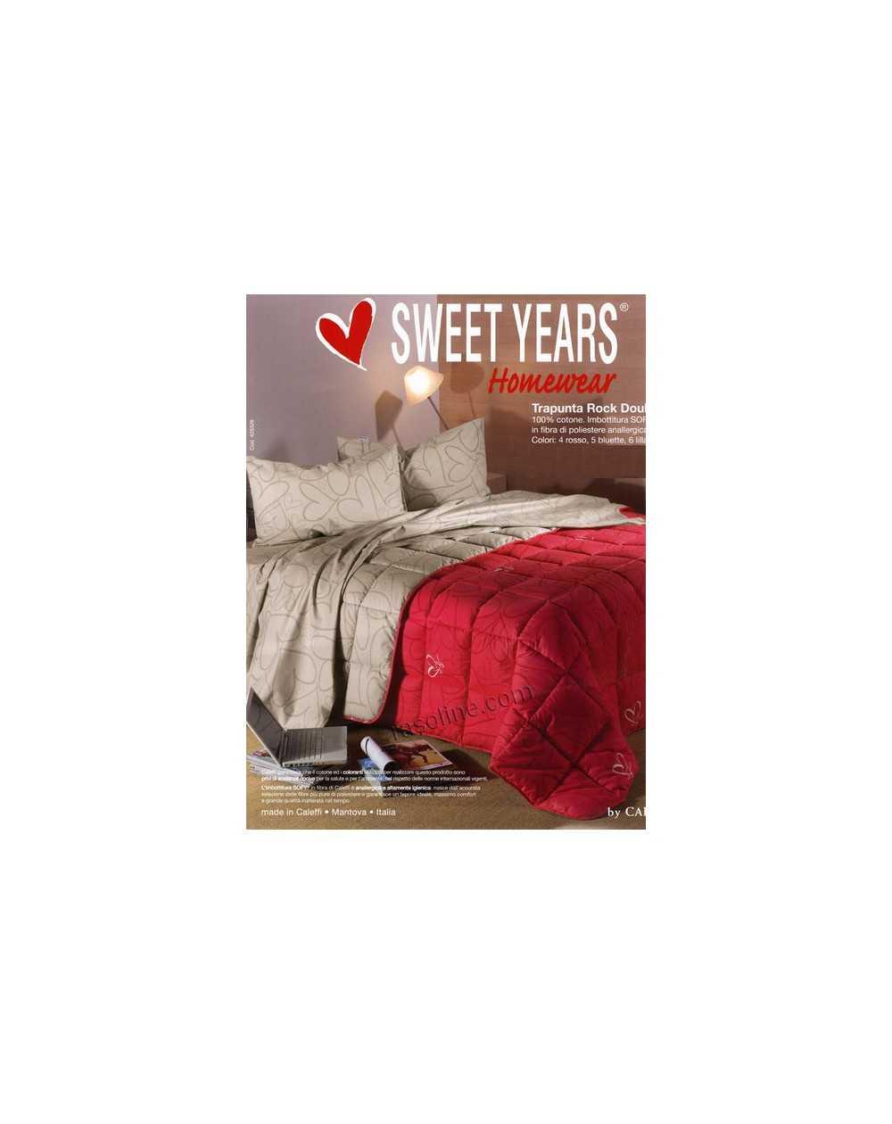 Trapunta Invernale Matrimoniale Sweet Years Rock Caleffi ...