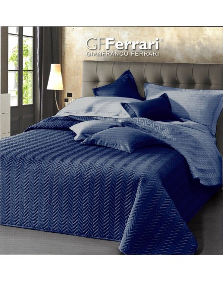 Beadspread bed-cover Quilt Clio BLUE
