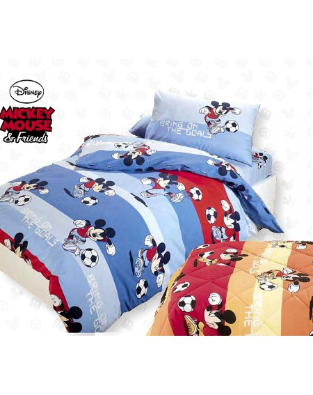 DUVET COVER SINGLE BED MICKEY MOUSE Calcio Caleffi Made in taly